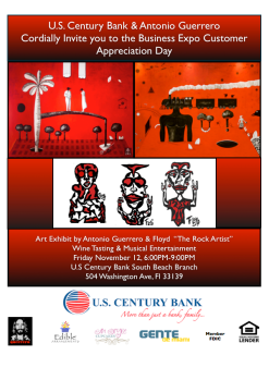 New Series of Cuban Art Exhibitions continue at Local Branches of U.S. Century Bank