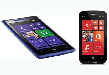 The Windows Phone 8X by HTC and the Nokia Lumia822