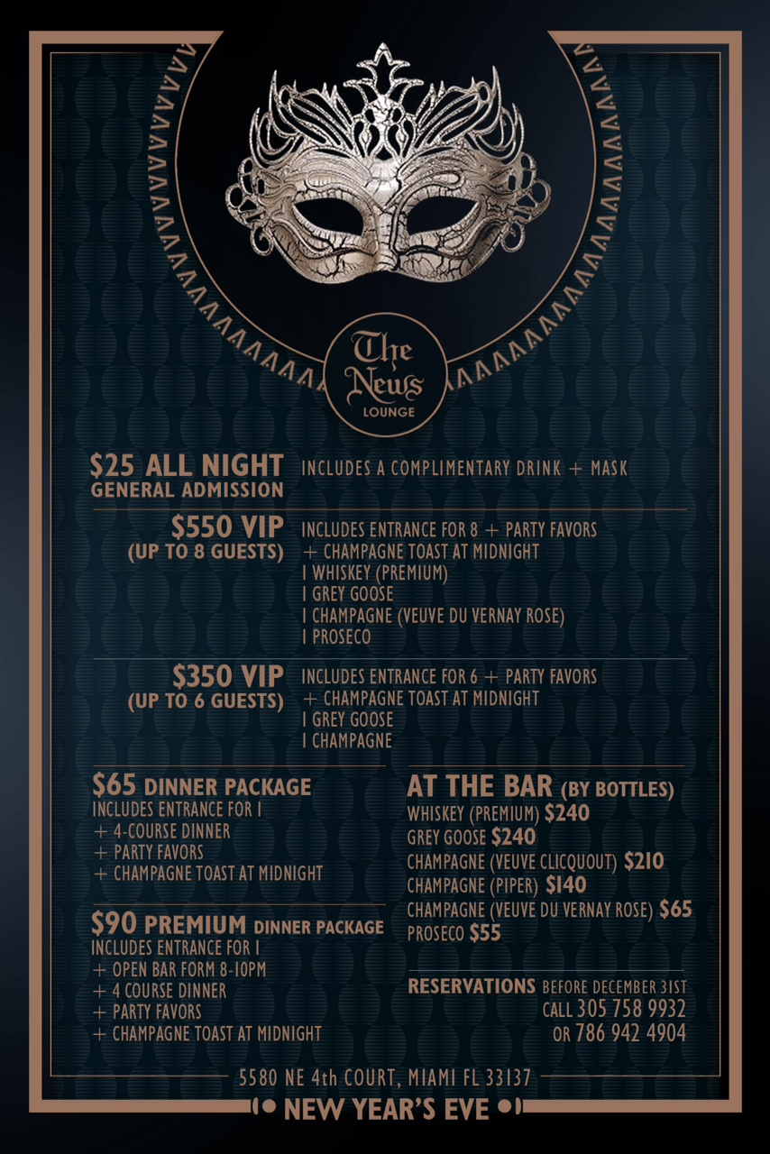 """""""Masquerade""""  Best New Year's Eve Party in Miami2013"""