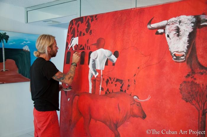 Antonio Guerrero at his studio Miami Beach, Florida photos by Leticia del Monte